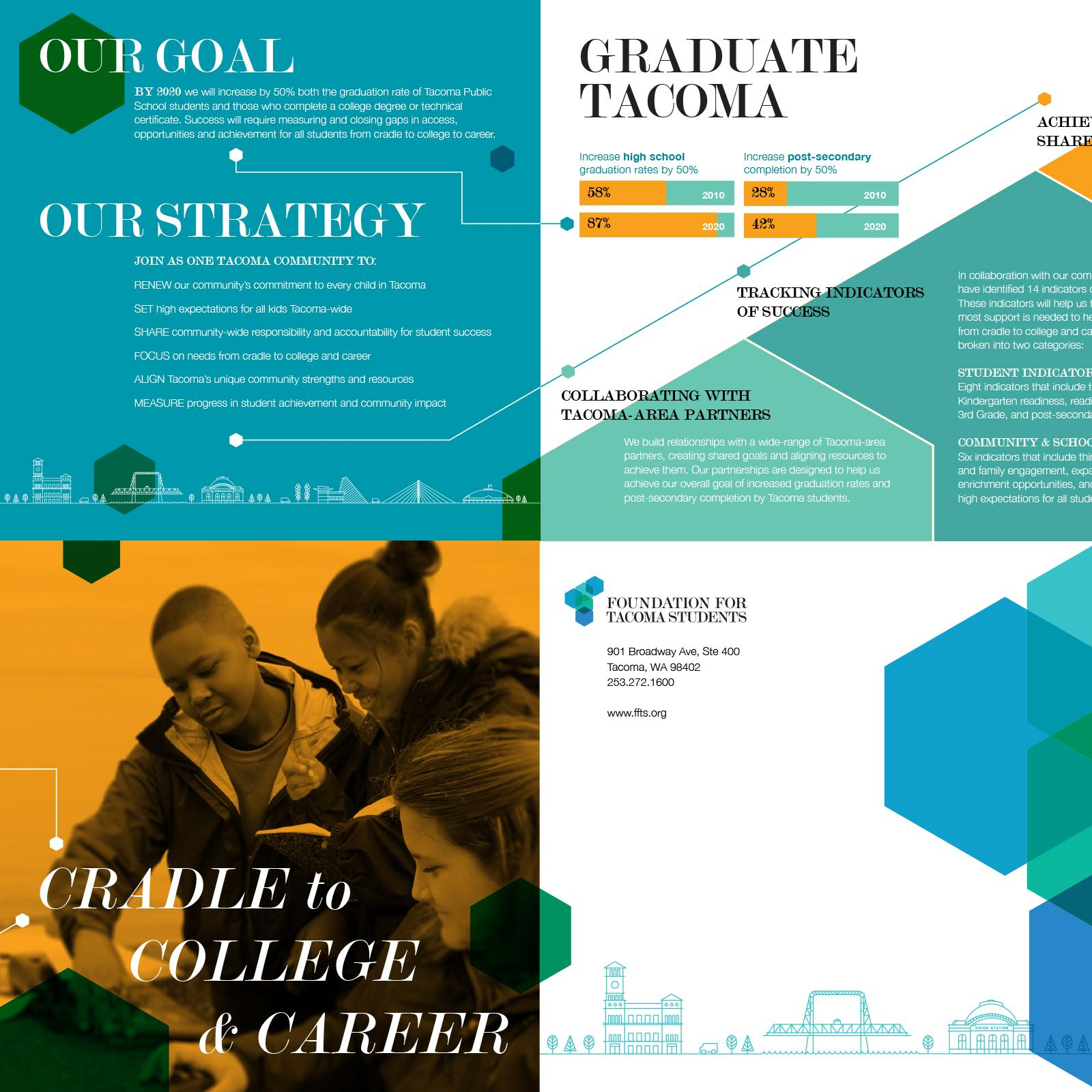 Unused layout for brochure and infographic.